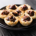 Bite size Cheese Tart with Dried Fruit Chutney