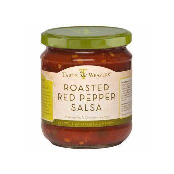 "Roasted Red Pepper Salsa from Taste weavers will be at the top of your ""best salsas"" list. The roasted red peppers along with jalapenos, onions and spices delivers a wonderful experience for your taste buds. Keep it simple - Serve with tortilla chips, or top burritos, grilled chicken and bruschetta. Spoonabilities.com"
