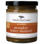 Pumpkin Honey Mustard. Pumpkin puree, cinnamon, ginger, nutmeg and allspice are blended with honey mustard to create an incredible condiment. You will not run out of ways to enjoy this amazing mustard. Fat Free. Vegan. Gluten Free. Spoonabilities.com $7.99