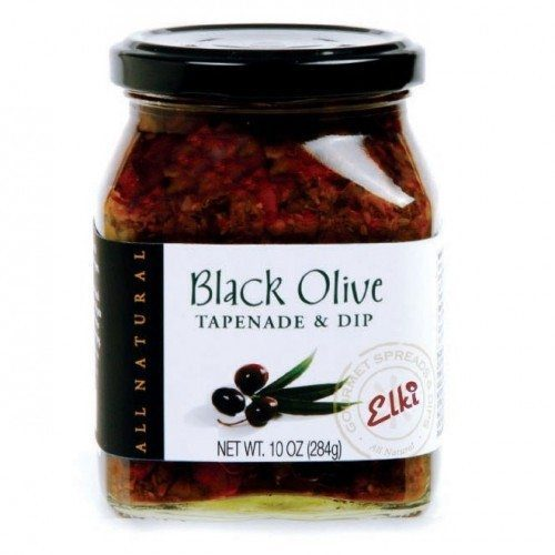 Black Olive Tapenade & Dip produced by Elki. All-Natural gourmet tapenade. Spoonabilities.com