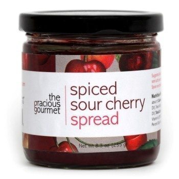 Spiced Sour Cherry Spread produced by The Gracious Gourmet. Available at Spoonabilities.com
