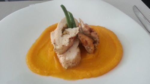 Stuffed Roasted Chicken with Artichoke Lemon Pesto Spoonabilities.com