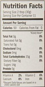 Roasted Pineapple Habanero Sauce Nutritional information