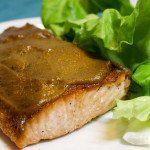 Salmon with Pumpkin Honey Mustard Glaze is my solution for an easy and tasty Salmon Recipe