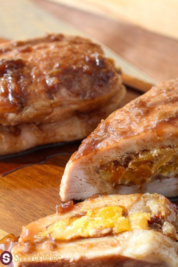 Stuffed Roasted Chicken with Artichoke Lemon Pesto Stuffed Pork Chops ...