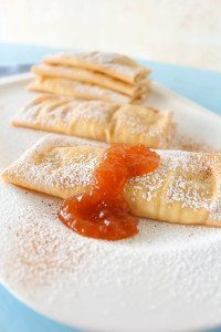 Crepes with Pear Honey Jam Filling: a delicious and easy to make breakfast or dessert recipe from Spoonabilities.com