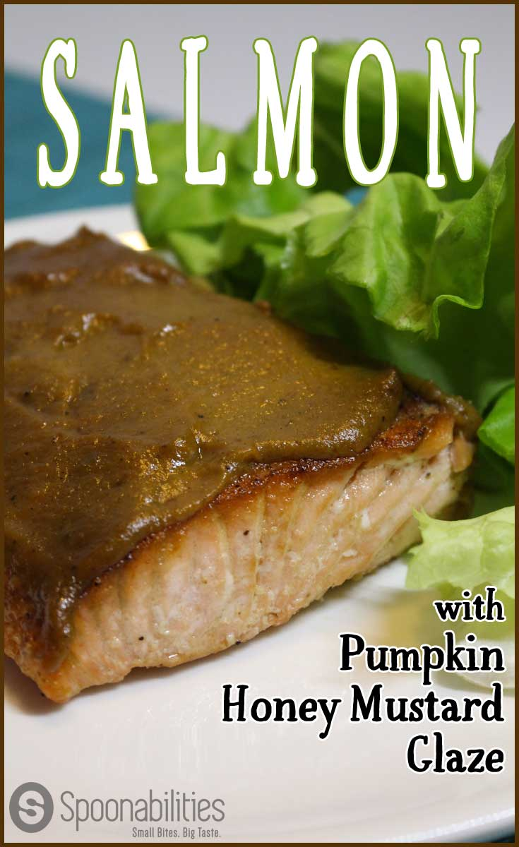 Salmon with Pumpkin Honey Mustard Glaze | Spoonabilities