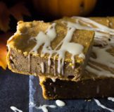 Pumpkin Magic Cake with Pumpkin Spice Syrup Icing