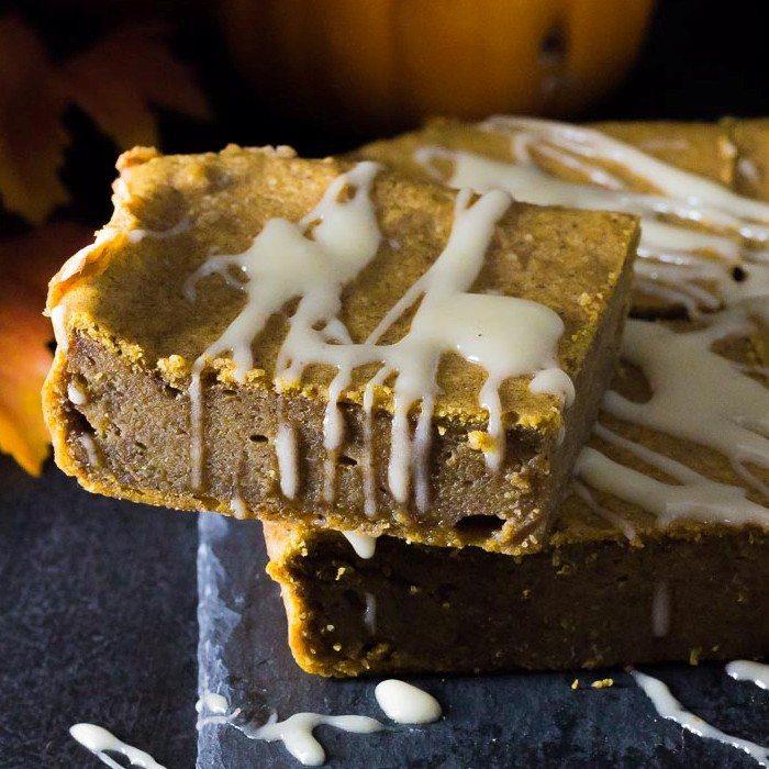 Pumpkin Magic Cake (Custard Cake) with Pumpkin Spice Icing Recipe