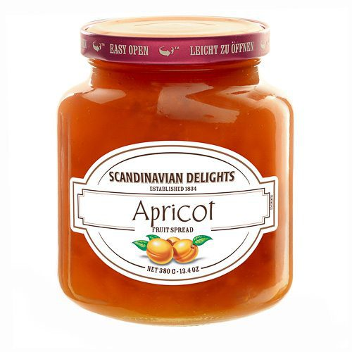 Apricot Fruit Spread Scandinavian Delights by Elki is delicious on bagels, English muffins and bread. Use as a glaze for pork, poultry or prawns. ELKI's Scandinavian Delights apricots grow in warm, sunny climates to create large and juicy fruit. You'll notice large slices of fresh apricot in every jar. Spoonabilities.com
