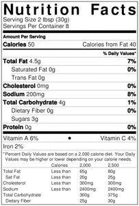 carnitas simmering sauce nutrition