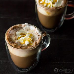 Pumpkin Spice Mocha is made with Pumpkin Spice Syrup from Blackberry Patch. Spoonabilities.com