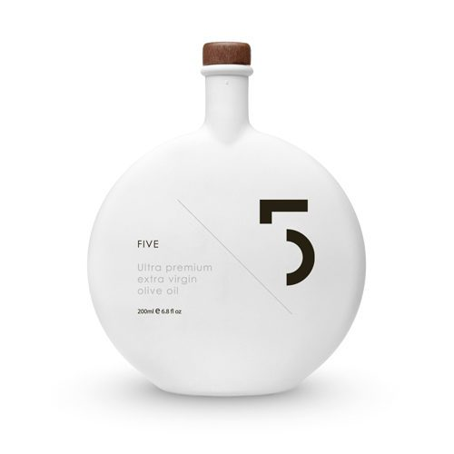 Five Ultra Premium Extra Virgin Olive Oil is well-balanced, fruity taste, complex flavor, Produced with the best olive crops in the Mediterranean. Available at Spoonabilities.com