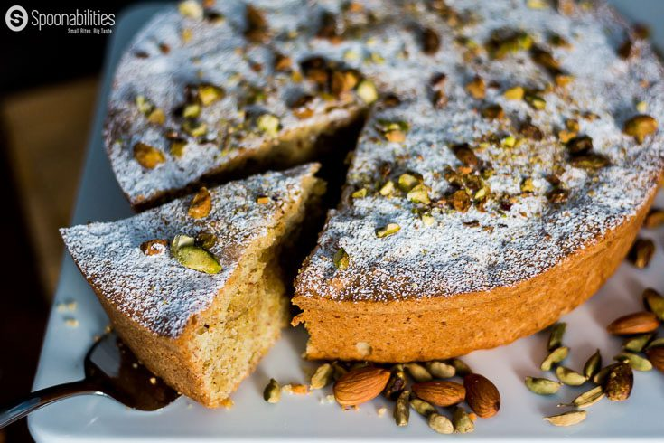Coffee Cardamom Pistachio Cake