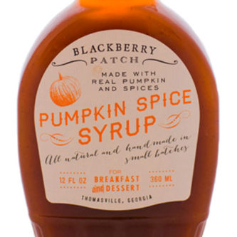 Pumpkin Spice Syrup by Blackberry Patch is just like liquid pumpkin pie. Syrup with spices like cinnamon, nutmeg and cloves are cooked in small batches using an old southern recipe. Spoonabilities.com