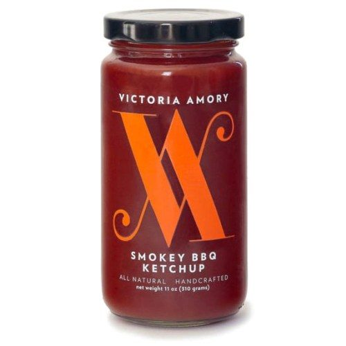 Smokey BBQ Ketchup by Victoria Amory is a culinary experience. Excellent to mix in meatloaf, meatballs. Awesome with French fries, BBQ Turkey Leg, Smoked BBQ Baked Beans, or Pulled Pork.