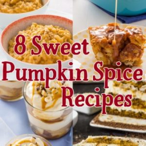 8 Sweet Pumpkin Spice Recipes you are going to want to make. Our most popular sweet pumpkin spice recipes, including homemade Pumpkin Spice Mocha and Pumpkin Tiramisu Cake. Just in time for pumpkin season. Enjoy!