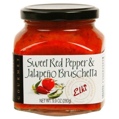 Sweet Red Pepper Jalapeno Bruschetta Spread by Elki. Spoonabilities