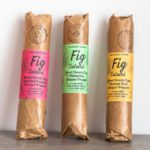 Vegan Fig Salami variety pack by Hellenic Farms. One each of Fig Salami with Pistachio; Fig Salami with Smoked Paprika; Vegan Salami with Orange Zest. Spoonabilities.com