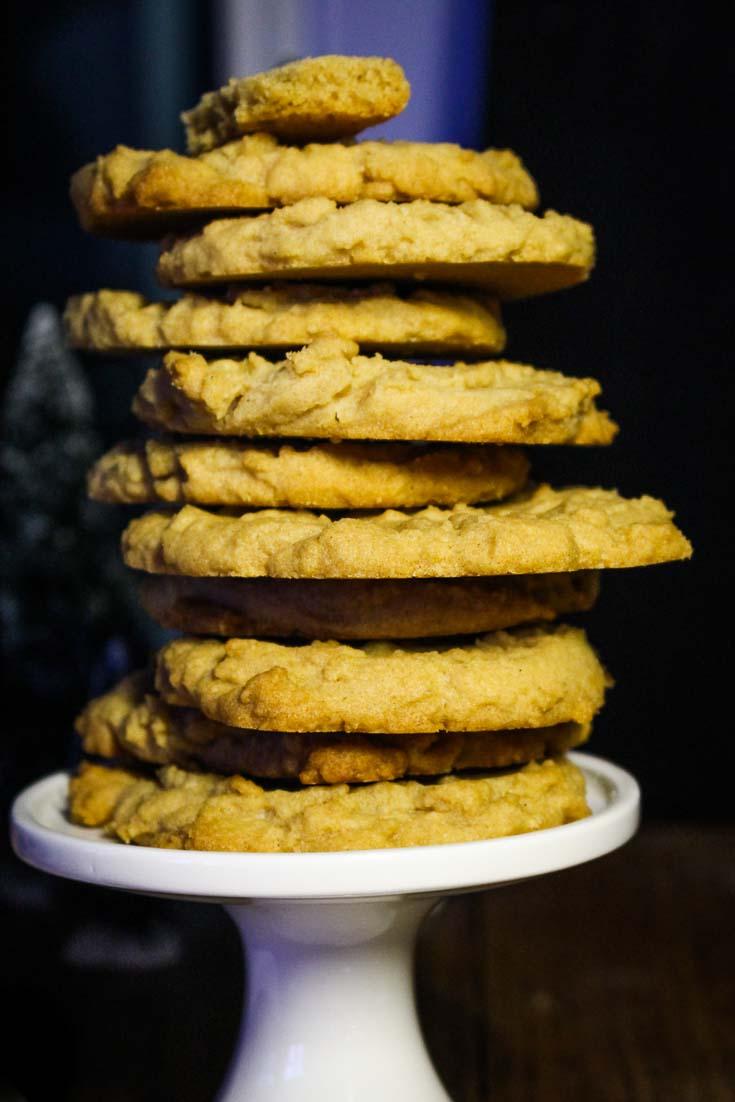 Best Peanut Butter Cookie Recipe - stack of 11 cookies. Spoonabilities