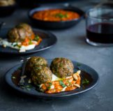 Spiced Lamb Meatballs with Piquillo Pepper Pesto