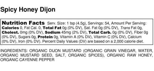 Spicy Horseradish Dijon Mustard